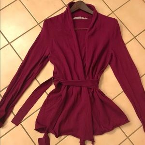 Athleta Cardigan Wrap Sweater Burgundy Size M♥️